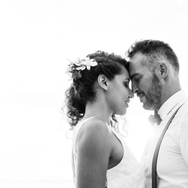 Un mariage tropical sur une plage de la Réunion