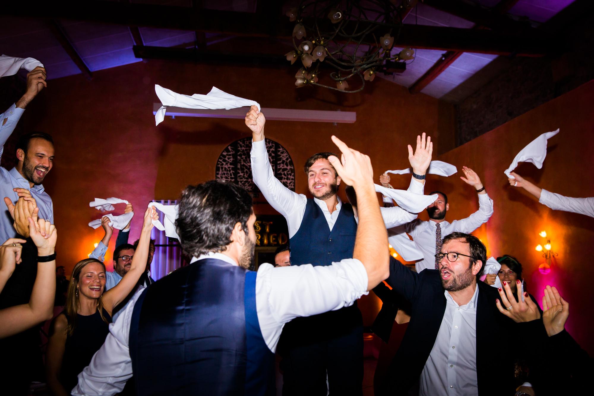 wedding party - flash - canon - mariage