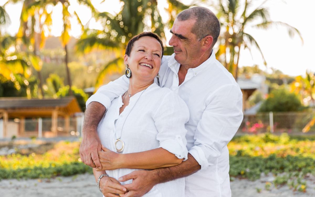Des grands-parents en vacances sur l'île de la Réunion