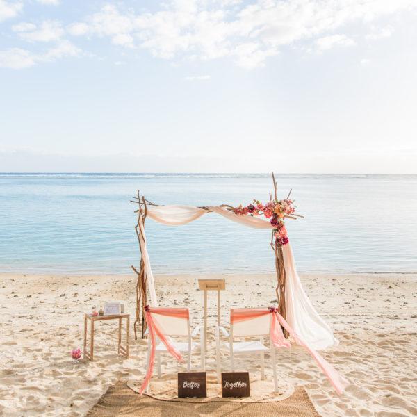Un renouvellement de voeux de mariage à la Réunion